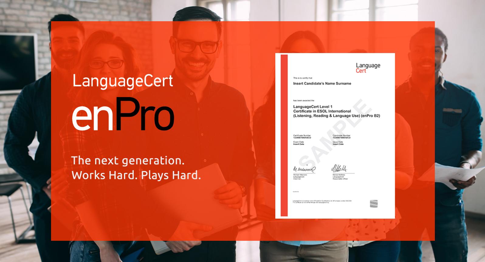 LanguageCert enPro header image