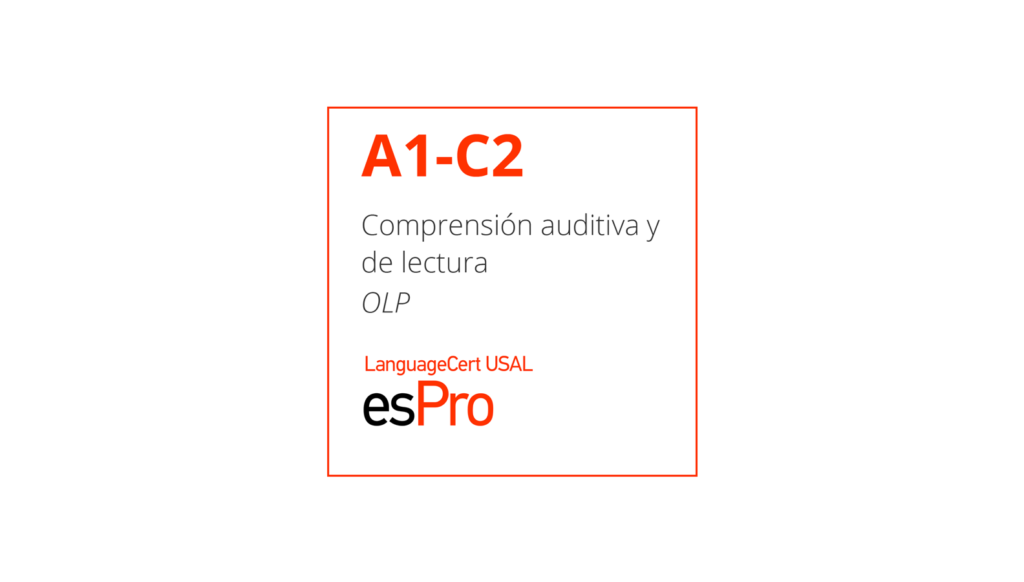 Esame di spagnolo online A1-C2 LanguageCert USAL esPro
